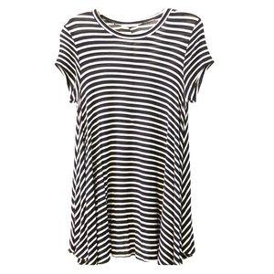 Dresses & Skirts - NWOT B&W Stripe Loose Fit Shortsleeve Tshirt Dress